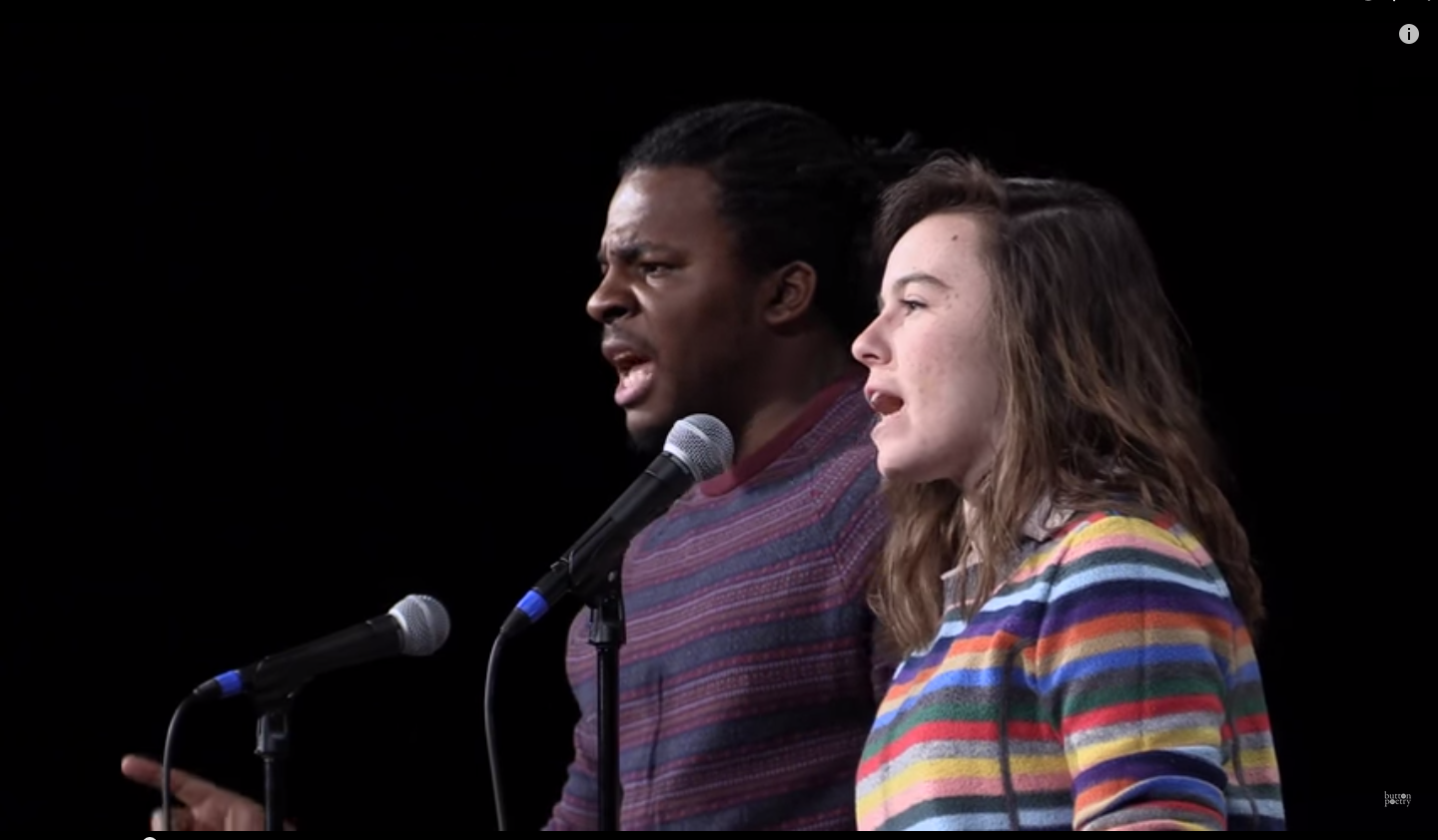 WHITE WOMAN TRADES VOICES WITH BLACK MAN TO CREATE THIS POWERFUL POEM! (VIDEO)