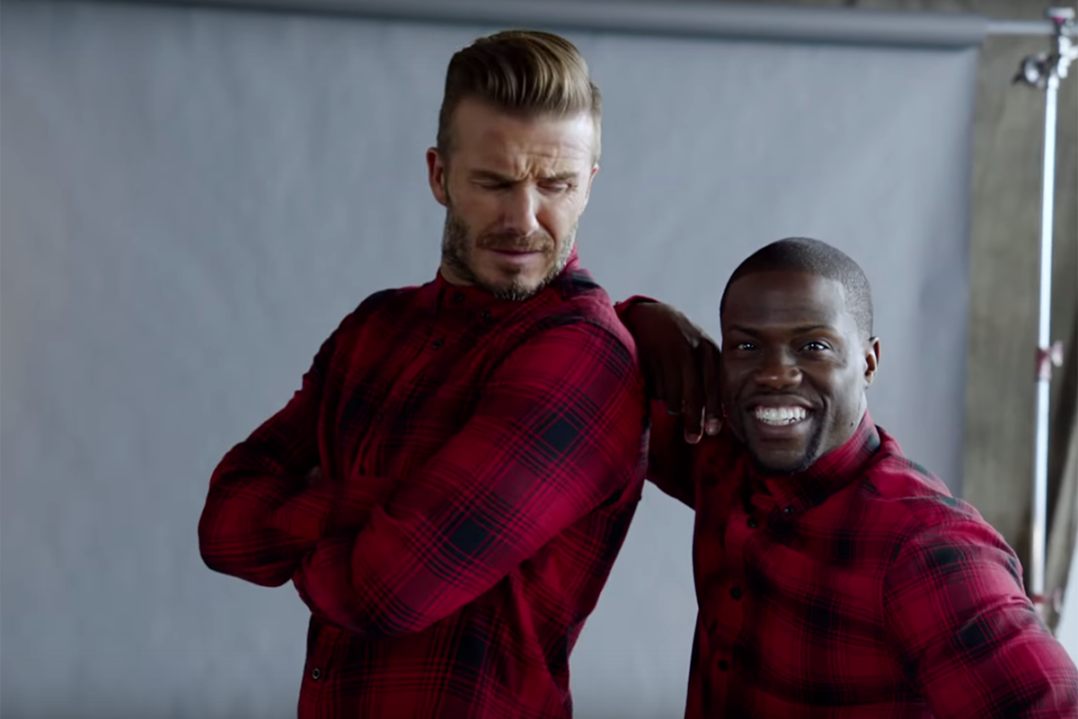DAVID BECKHAM & KEVIN HART TEAM UP FOR HILARIOUS H&M COMMERCIAL! (FULL VIDEO)
